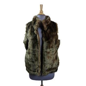 "Capelli Faux ""Mink"" Fur Vest Silky Soft Gold Brown"